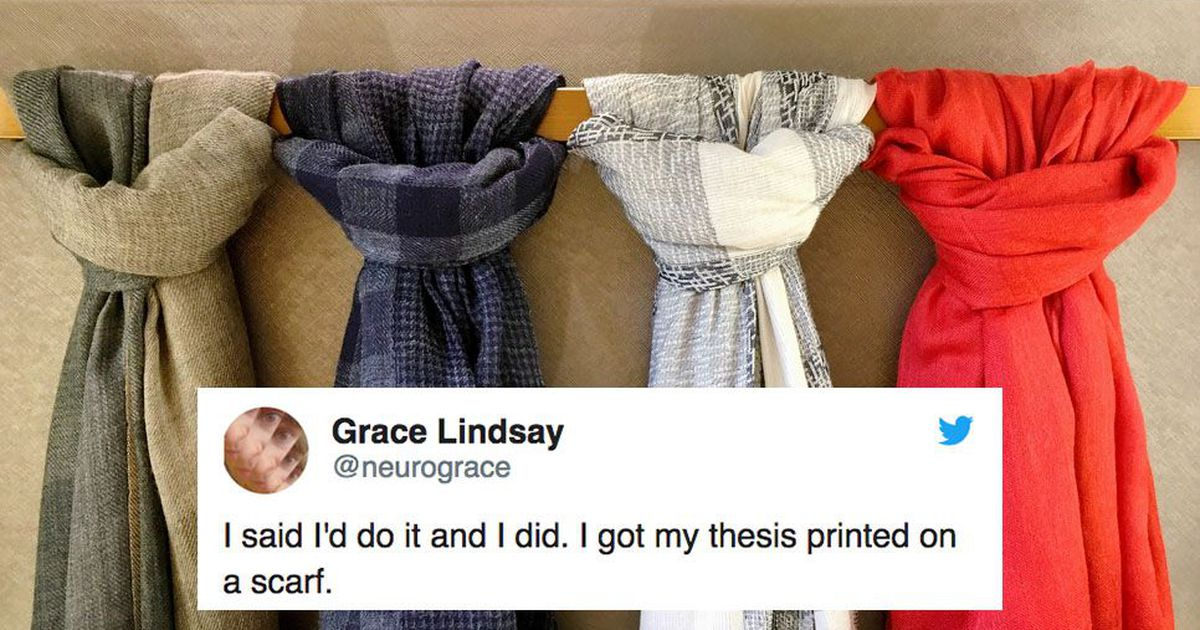 This woman printed her neuroscience thesis on a scarf and it's brilliant