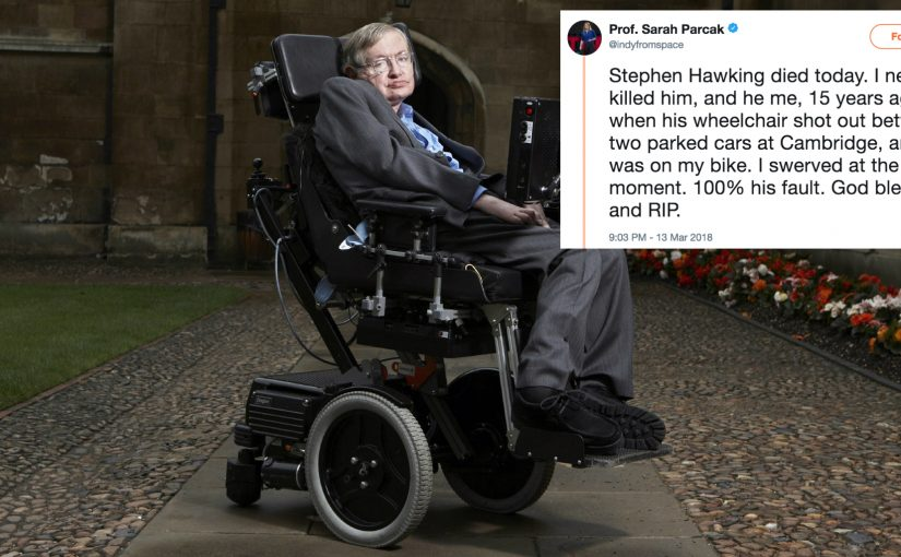 The best Stephen Hawking tributes are from the people who almost killed him