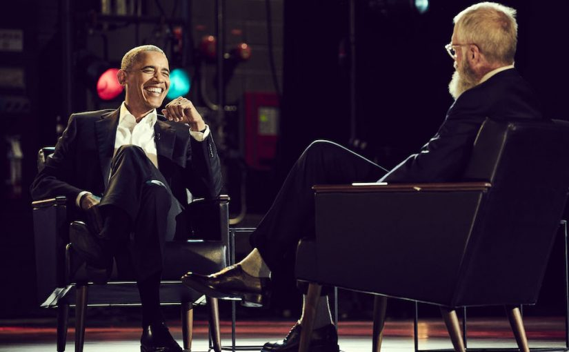 As David Lettermans first Netflix guest, Barack Obama warns against the bubble of social media